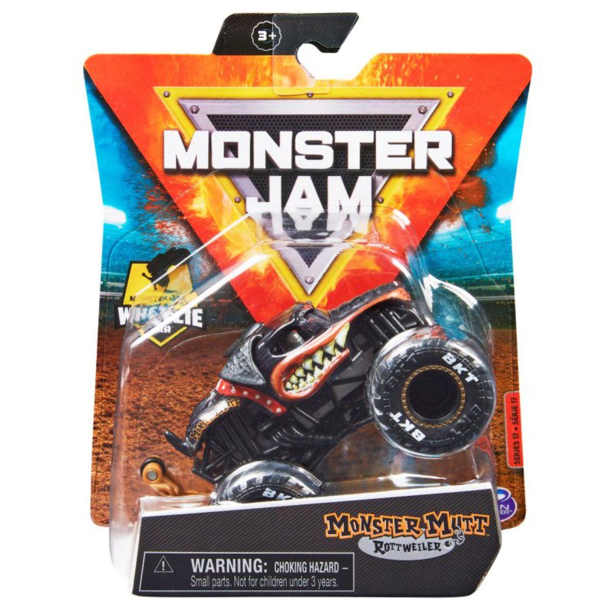 Masinuta Monster Jam, Scara 1:64, Monster Mutt Rottweiler, 20130586