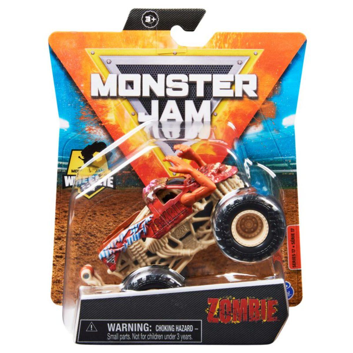 Masinuta Monster Jam, Scara 1:64, Zombie, 20130587
