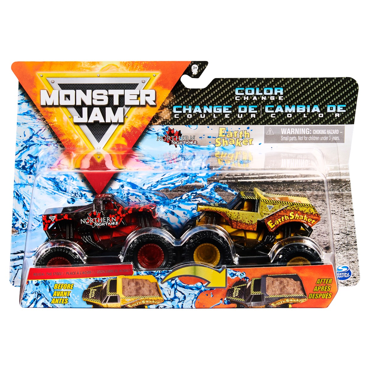 Set 2 masini Monster Jam, Scara 1:64, Northern Nightmare si Earth Shaker