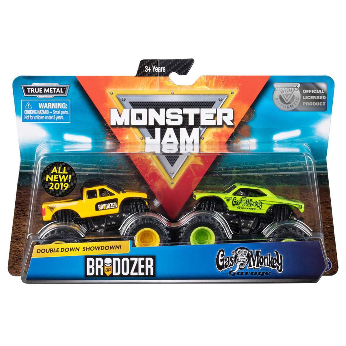 Set 2 masini Monster Jam, Scara 1:64, Brodozer si Gas Monkey