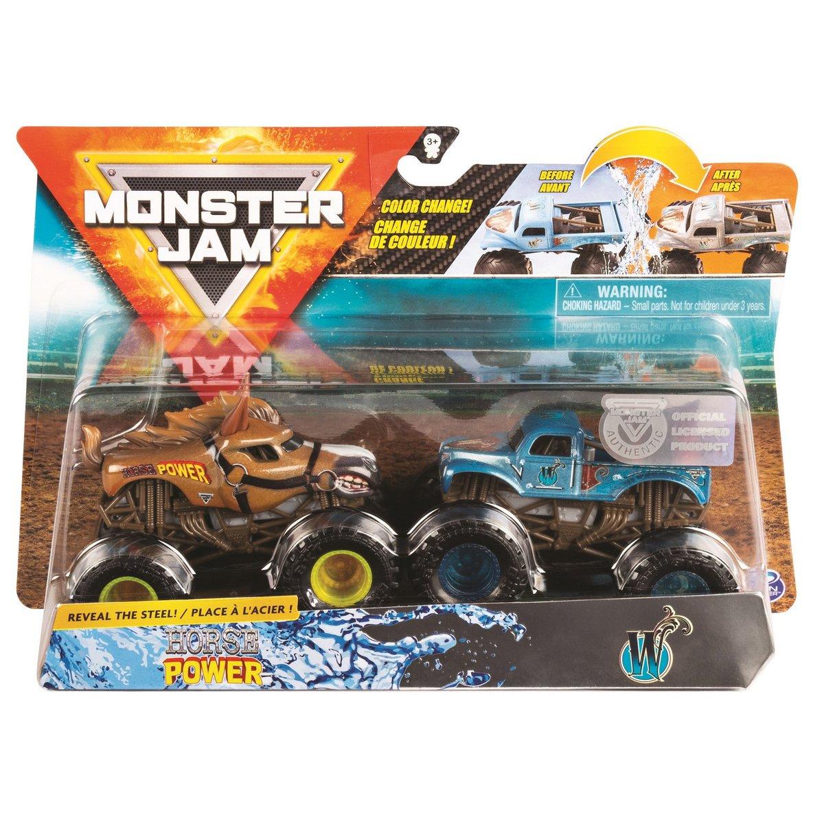 Set 2 masini Monster Jam, Scara 1:64, Horse Power si W