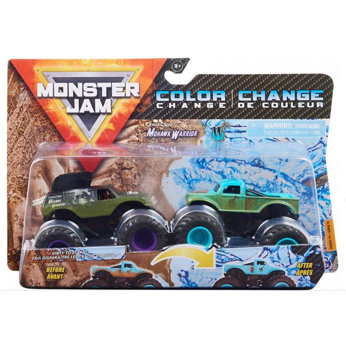 Set 2 masini Monster Jam, Scara 1:64, Mohawk Warrior