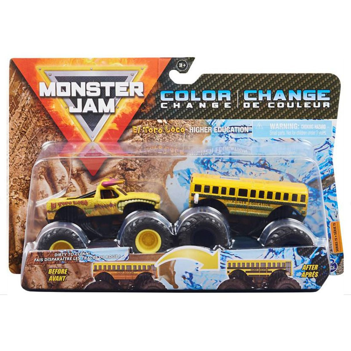Set 2 masini Monster Jam, Scara 1:64, El Toro Loco & Higher Education