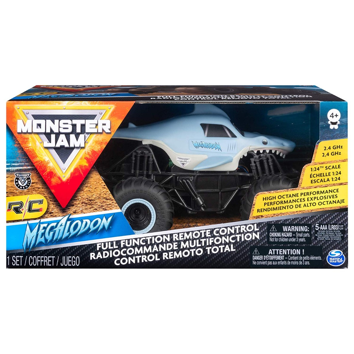 Masinuta cu telecomanda Monster Jam, Megalodon, 1:24