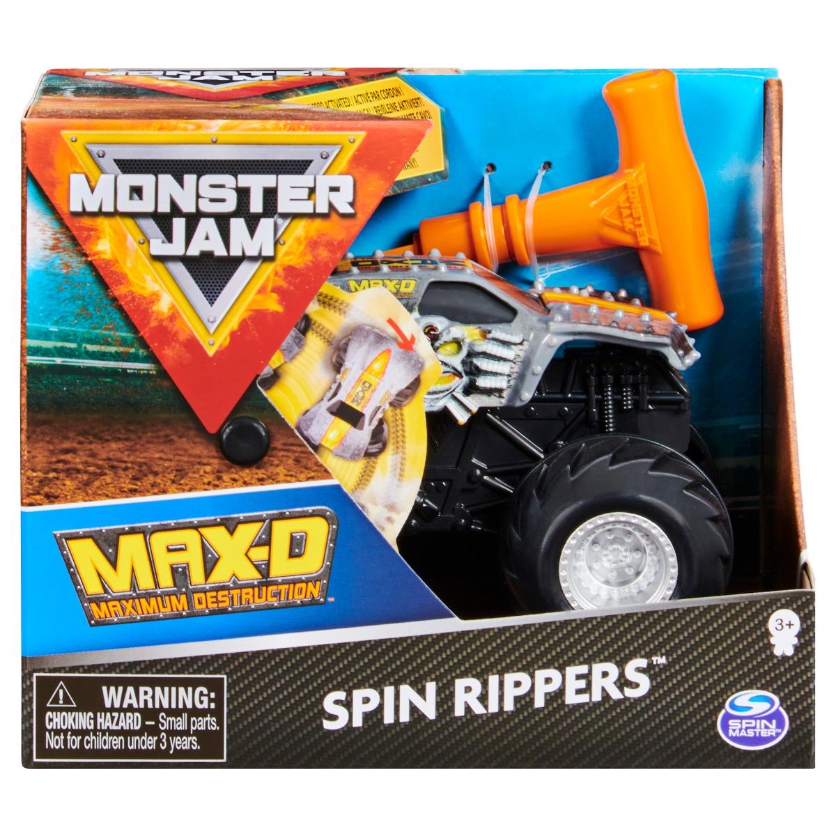 Masinuta Monster Jam, Scara 1:43, Max-D Spin Rippers imagine
