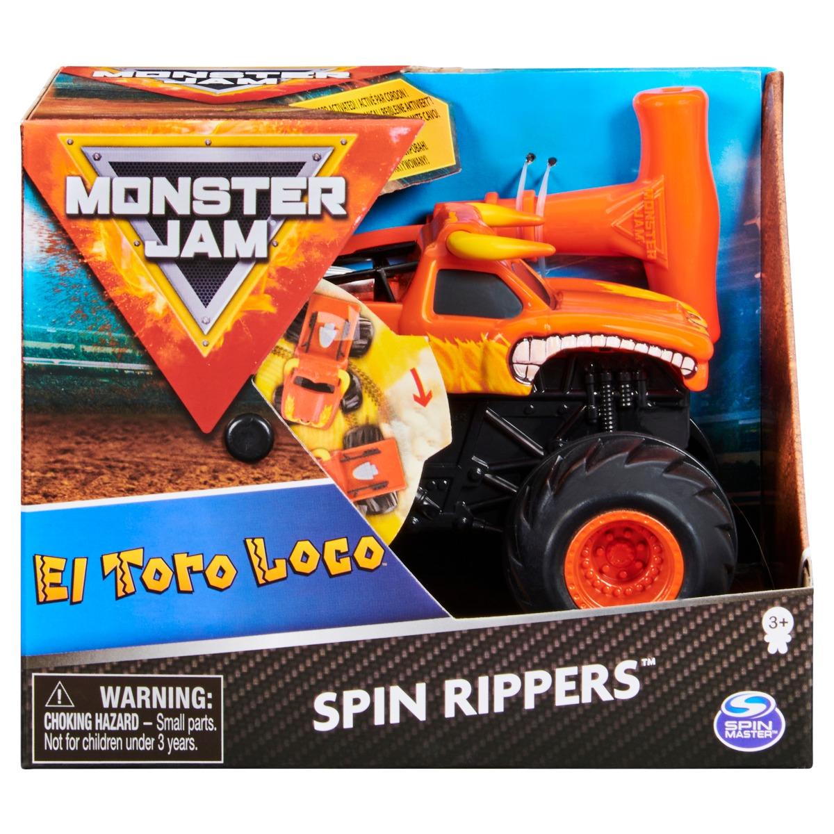 Masinuta Monster Jam, Scara 1:43, El Toro Loco Spin Rippers