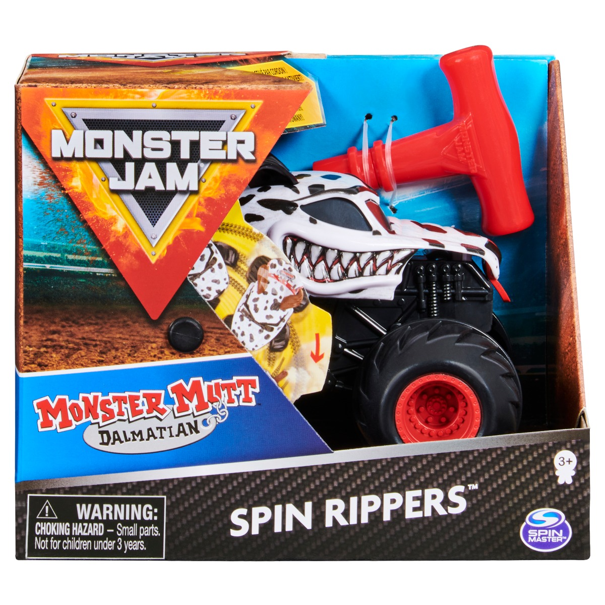 Masinuta Monster Jam, Scara 1:43, Monster Mutt Dalmatian Spin Rippers imagine