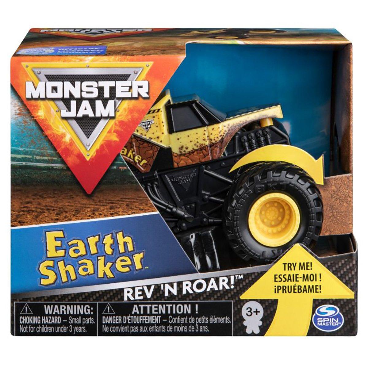 Masinuta Monster Jam, Scara 1:43, Eart Shaker Rev N Roar