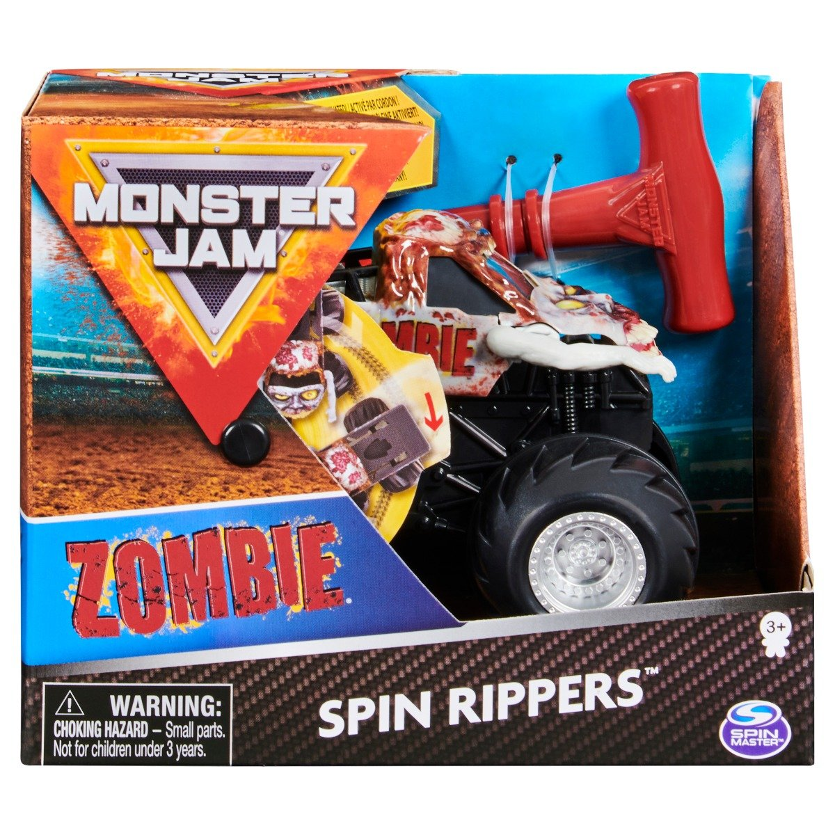 Masinuta Monster Jam, Scara 1:43, Zombie Spin Rippers