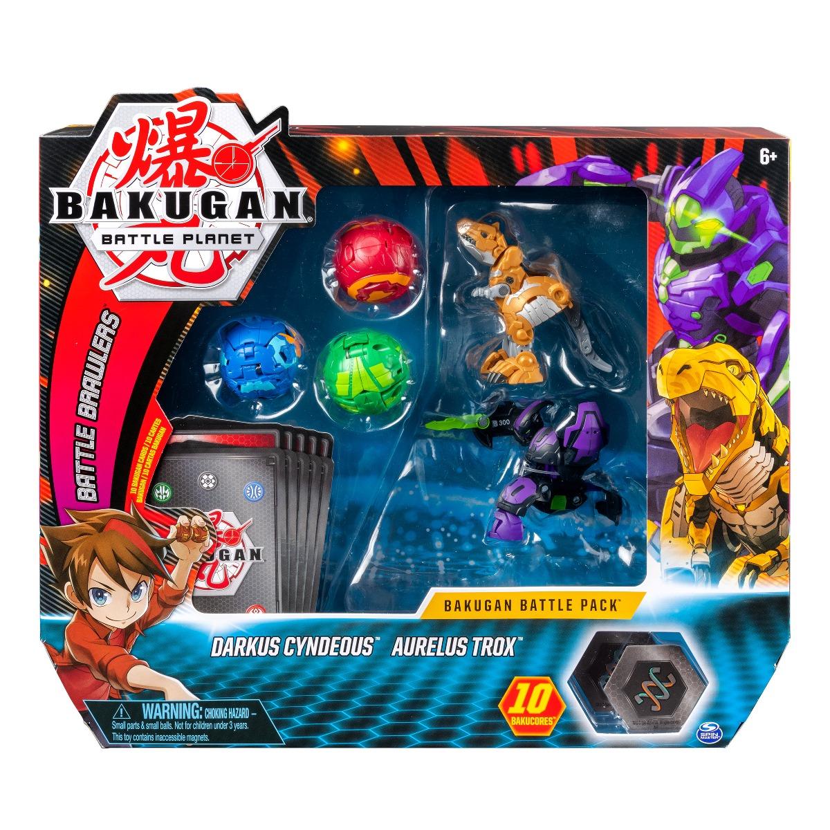 Set 5 Bakugan Battle Planet, Darkus Cyndeous, Aurelus Trox, 20108832