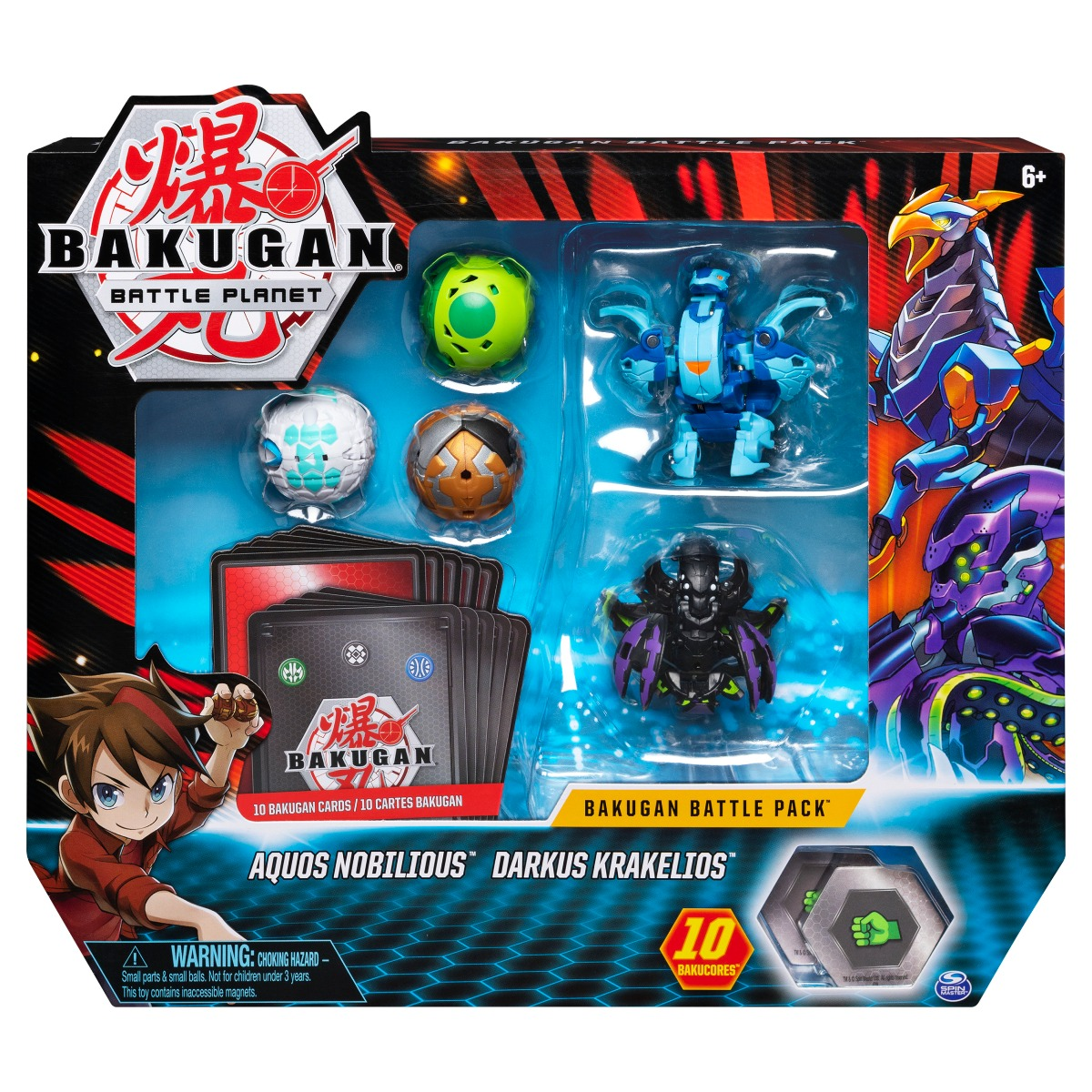 Poza Set 5 Bakugan Battle Planet, Aquos Nobilious, Darkus Krakelios, 20115153