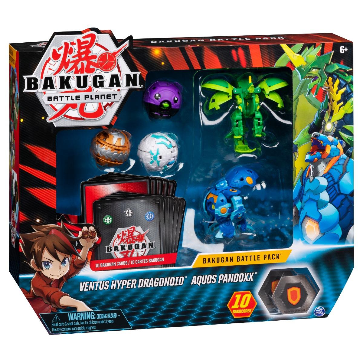 Set 5 Bakugan Battle Planet, Ventus Hyper Dragonoid, Aquos Pandoxx, 20115628 imagine