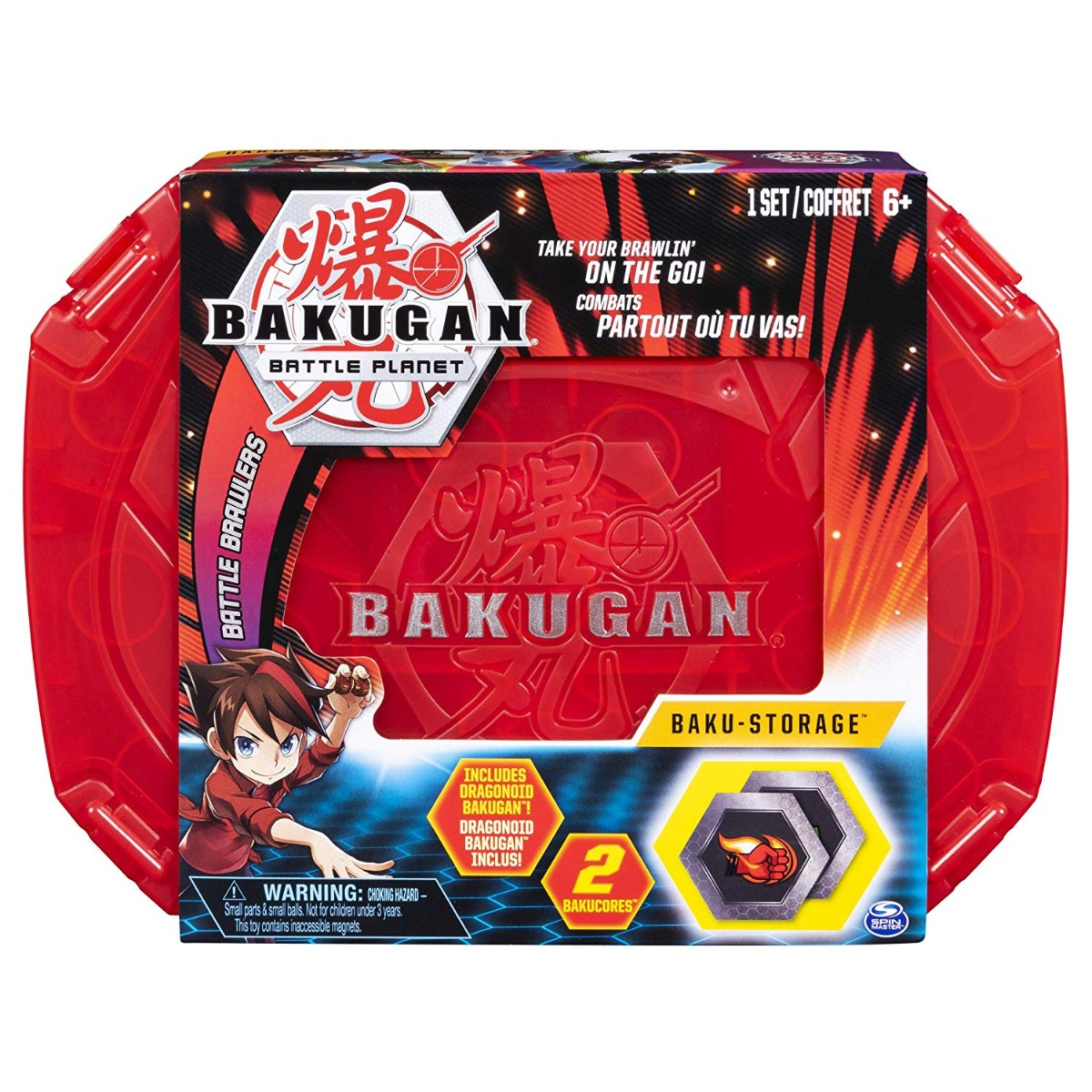Set Baku-cutie de depozitare Bakugan Battle Planet, Red, 20104005