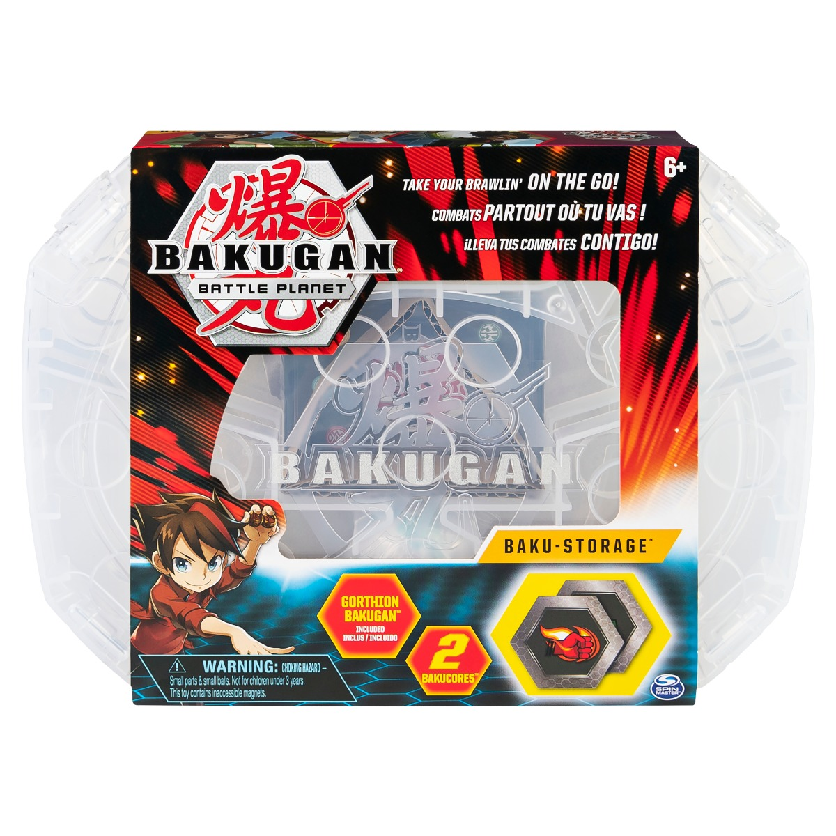Set Baku-cutie de depozitare Bakugan Battle Planet, White, 20115350