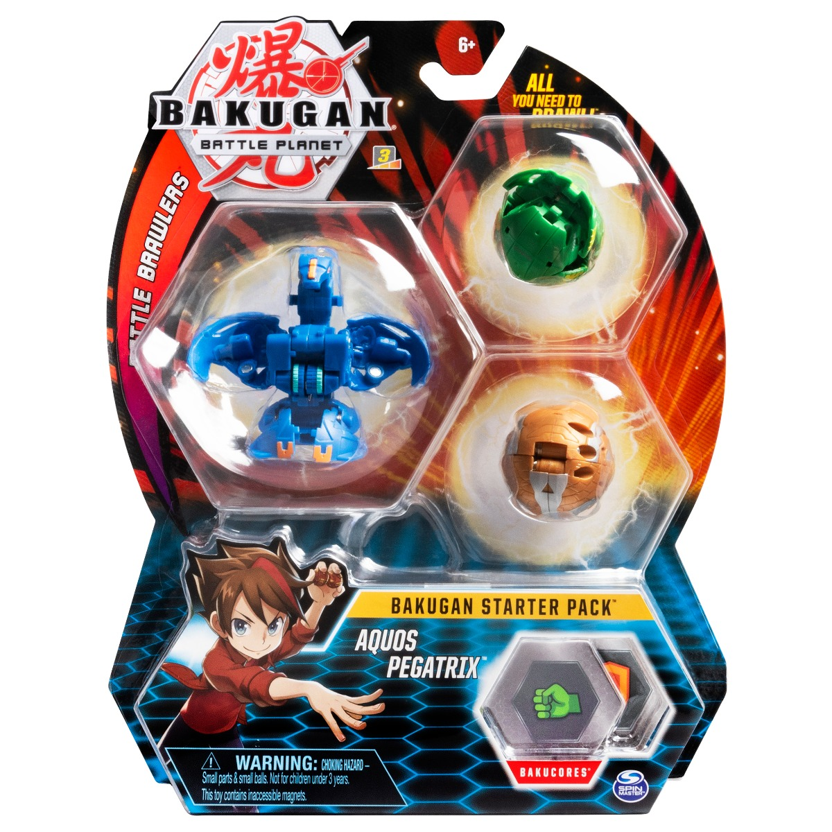 Set Bakugan Battle Planet Starter Pack Aquos Pegatrix, 20109155