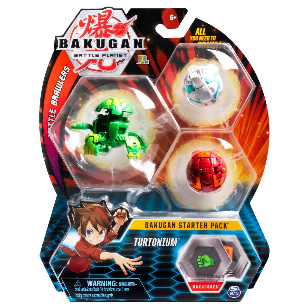 Set Bakugan Battle Planet Starter Pack Turtonium, 20109156