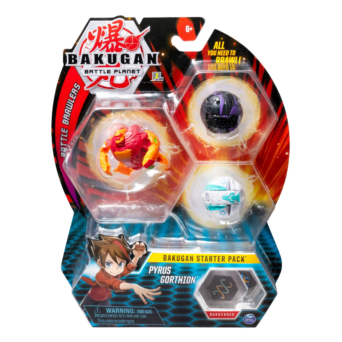 Set Bakugan Battle Planet Starter Pyrus Gorthion, 20108789