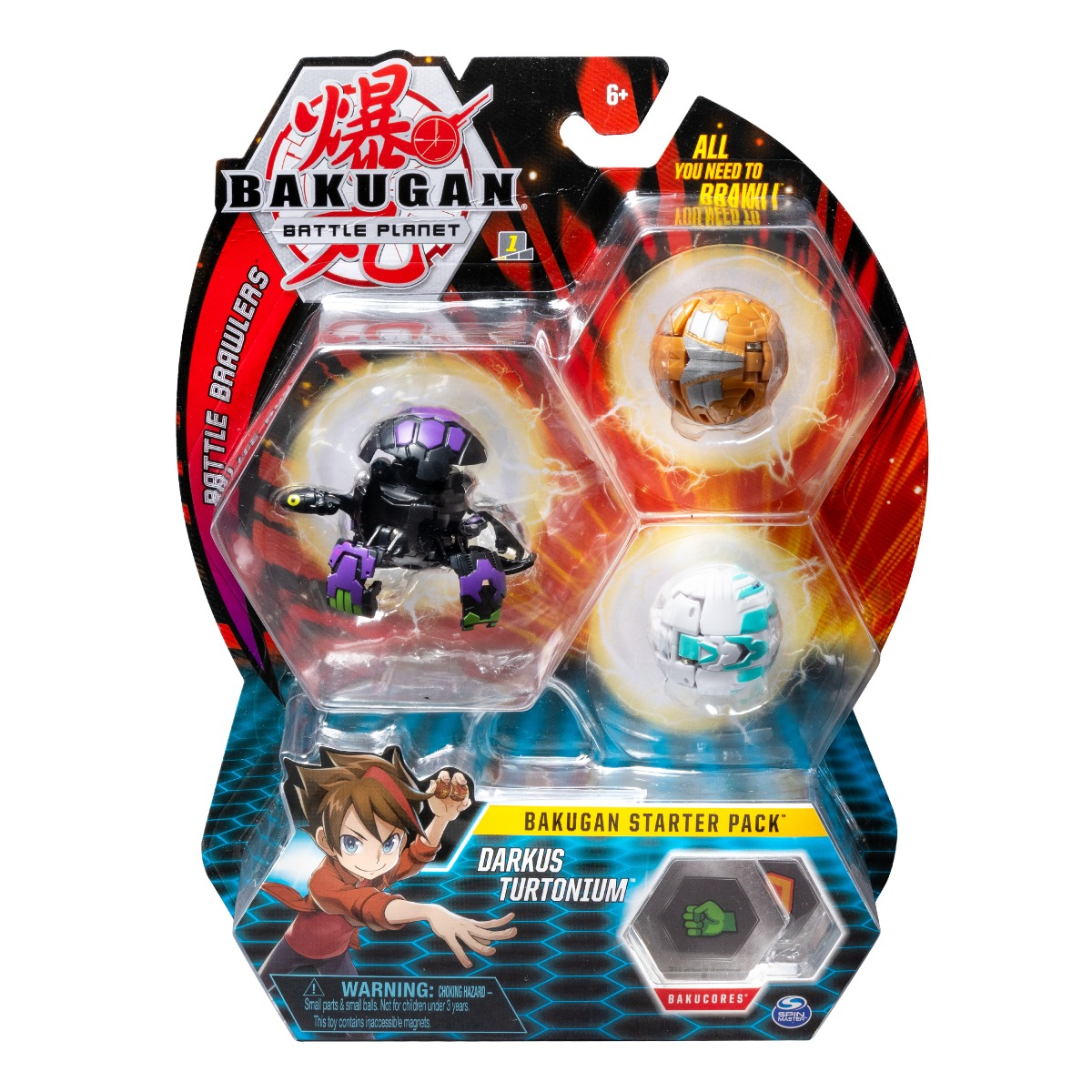 Set Bakugan Battle Planet Starter Darkus Turtonium, 20108790