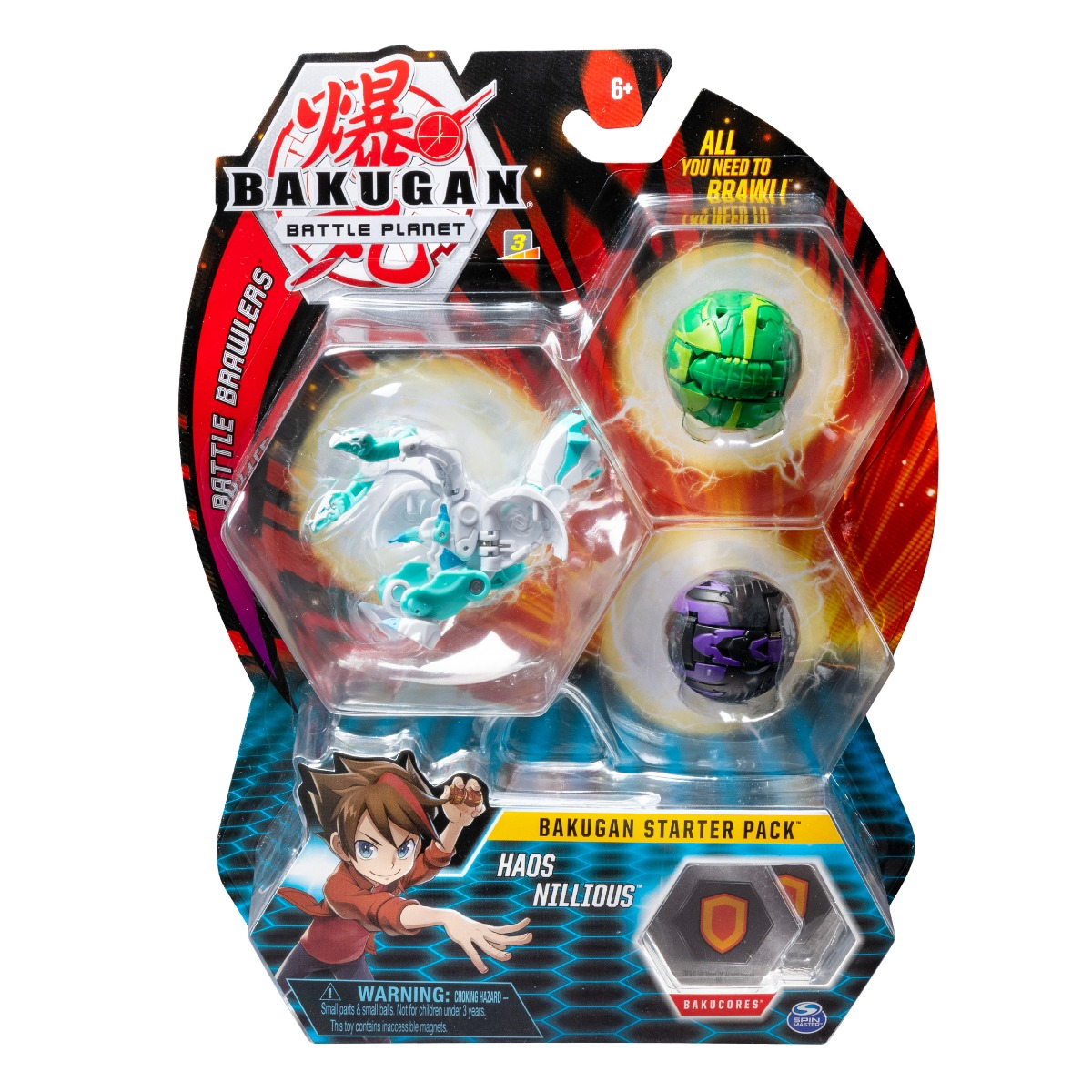 Set Bakugan Battle Planet Starter Haos Nillious, 20108791