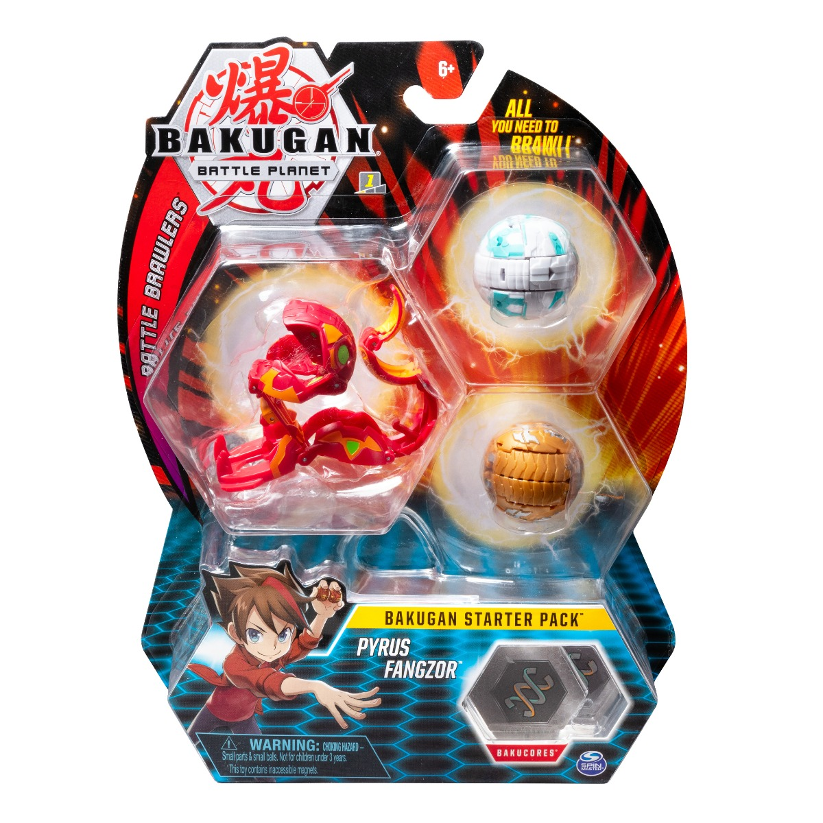 Set Bakugan Battle Planet Starter Pyrus Fangzor, 20108792