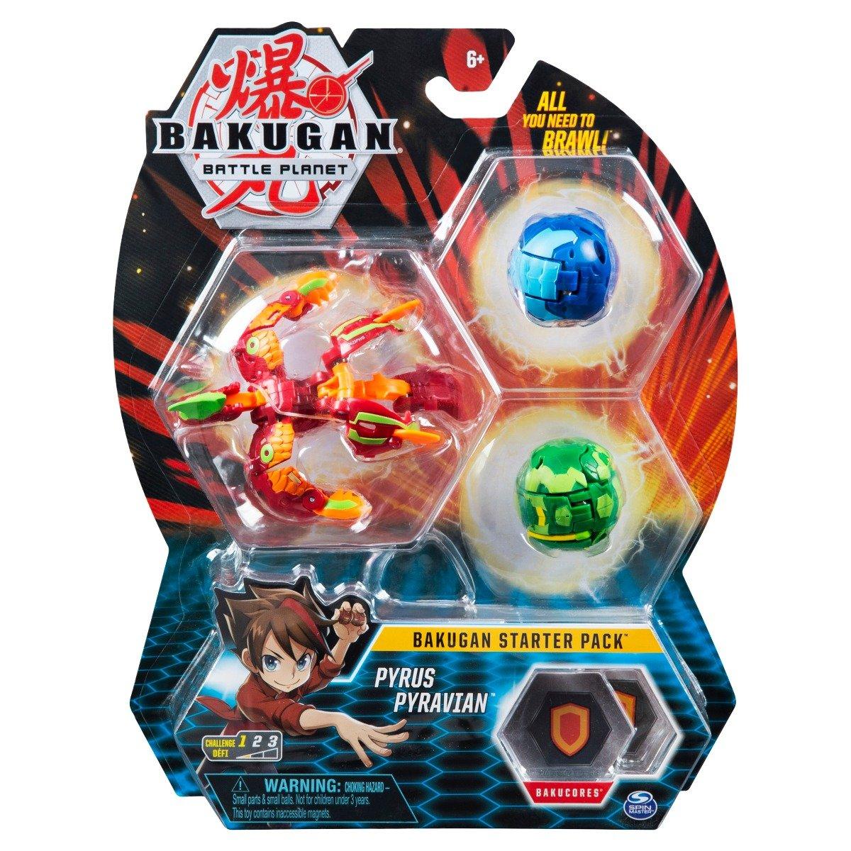 Set Bakugan Battle Planet Starter Pack, Pyrus Pyravian, 20118475