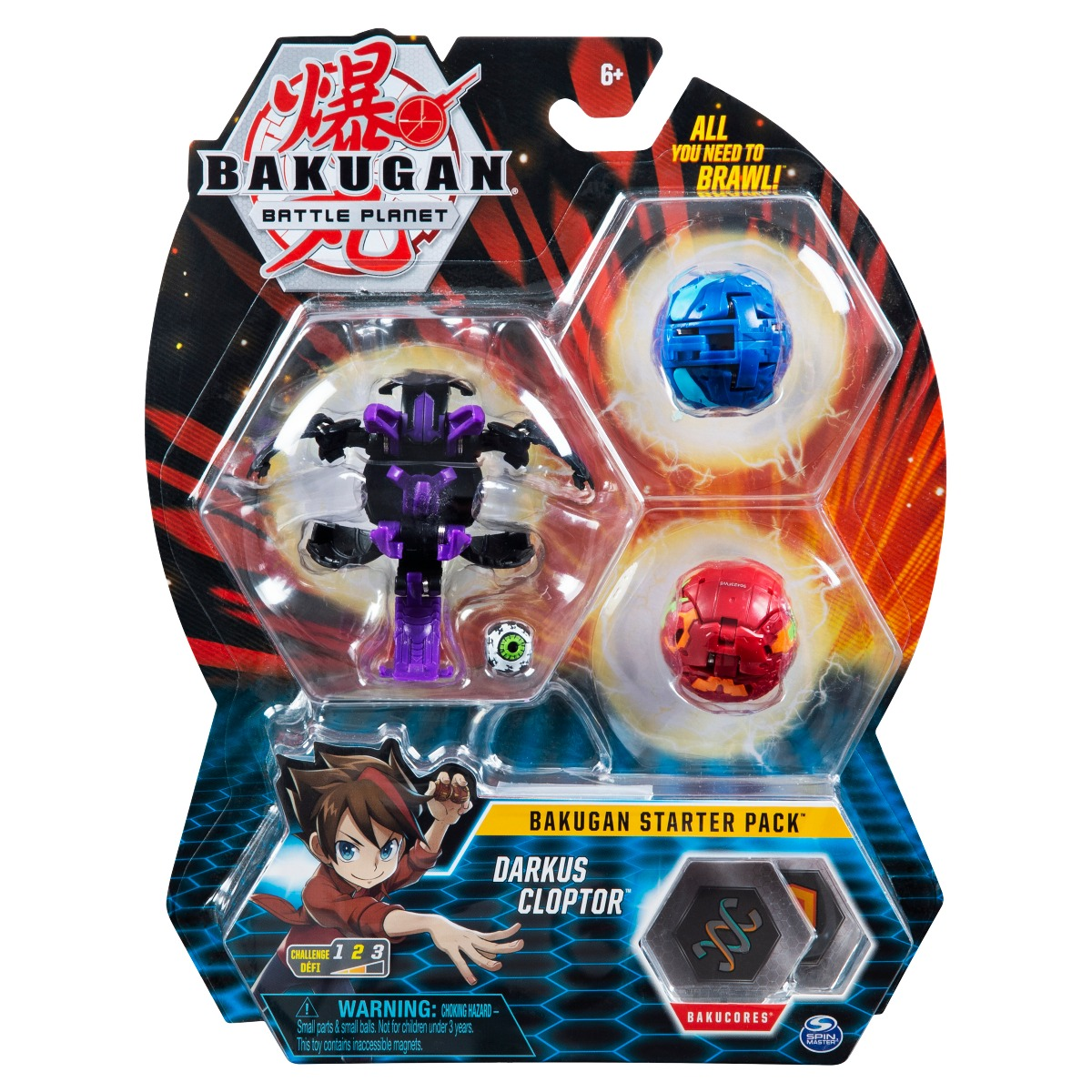 Set Bakugan Battle Planet Starter Pack, Darkus Cloptor, 20119855