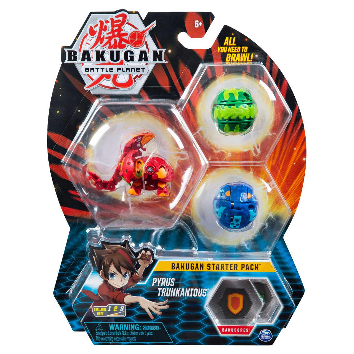 Set Bakugan Battle Planet Starter Pack, Pyrus Trunkanious, 20119857