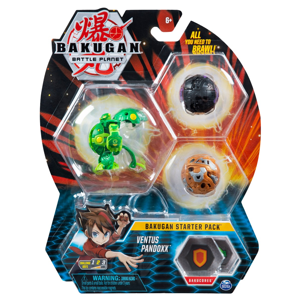 Set Bakugan Battle Planet Starter Pack, Ventus Pandoxx, 20119858