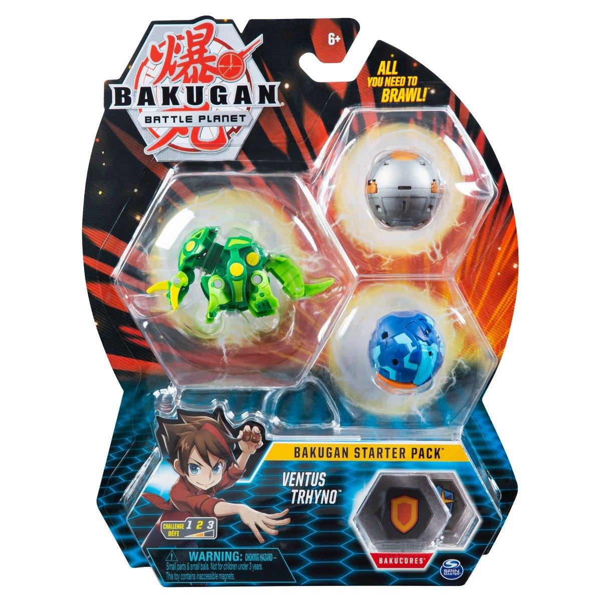 Set Bakugan Battle Planet Starter Pack, Ventus Trhyno, 20119861