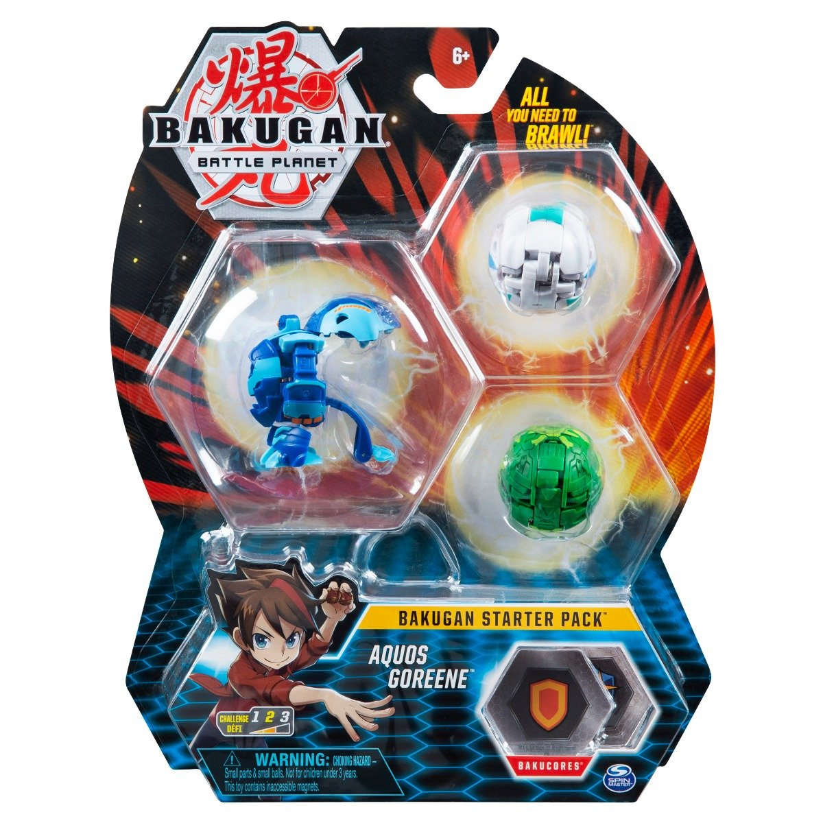 Set Bakugan Battle Planet Starter Pack, Aquos Goreene, 20119856