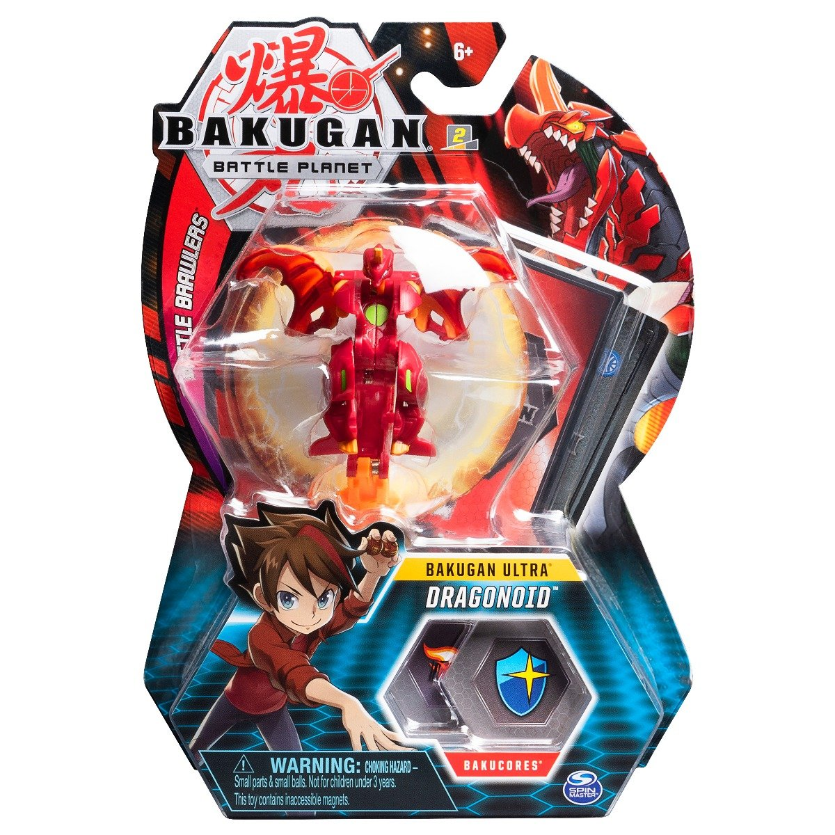 Figurina Bakugan Ultra Battle Planet, 1A Dragonoid Red, 20109016