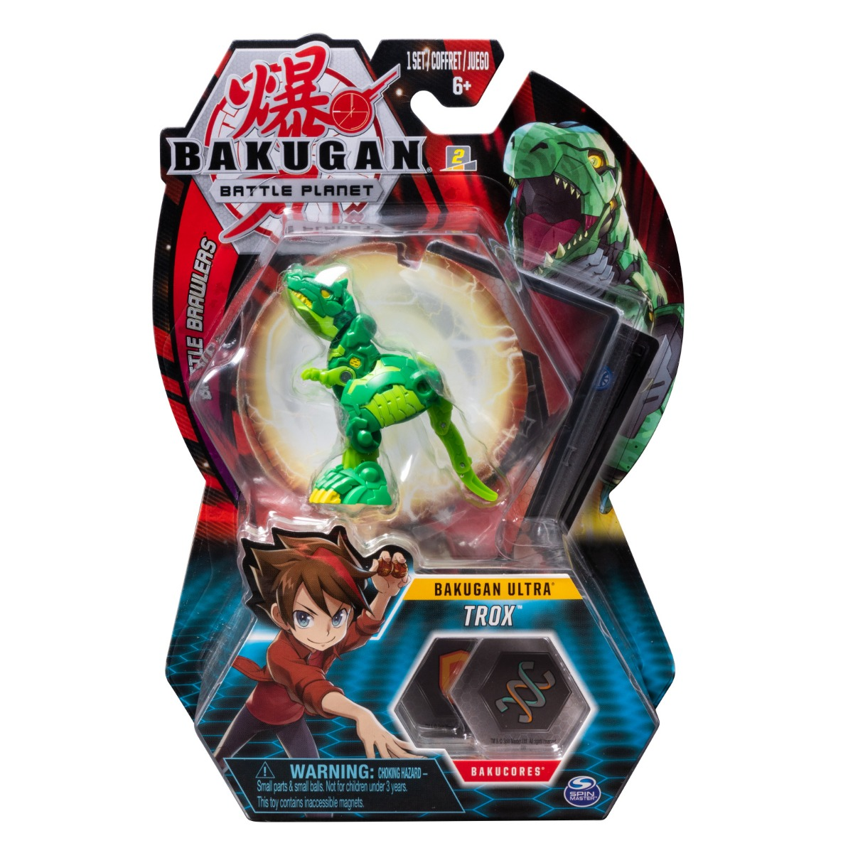 Figurina Bakugan Ultra Battle Planet, 11C T-Rex Green, 20108453