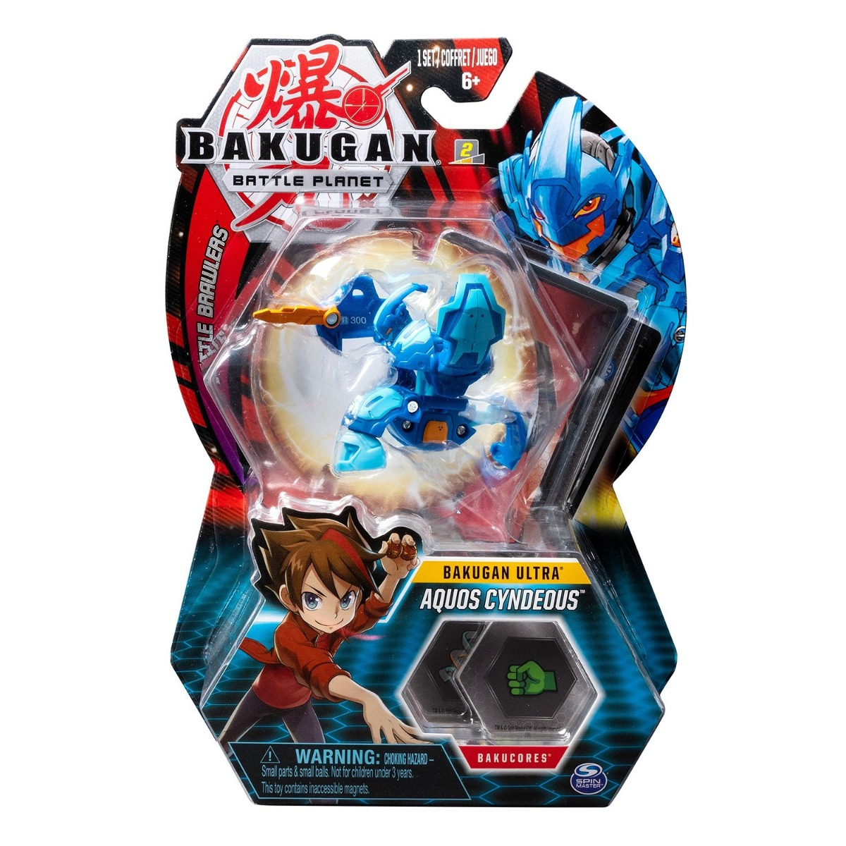 Figurina Bakugan Ultra Battle Planet, 9B Fire Knight Blue, 20107988