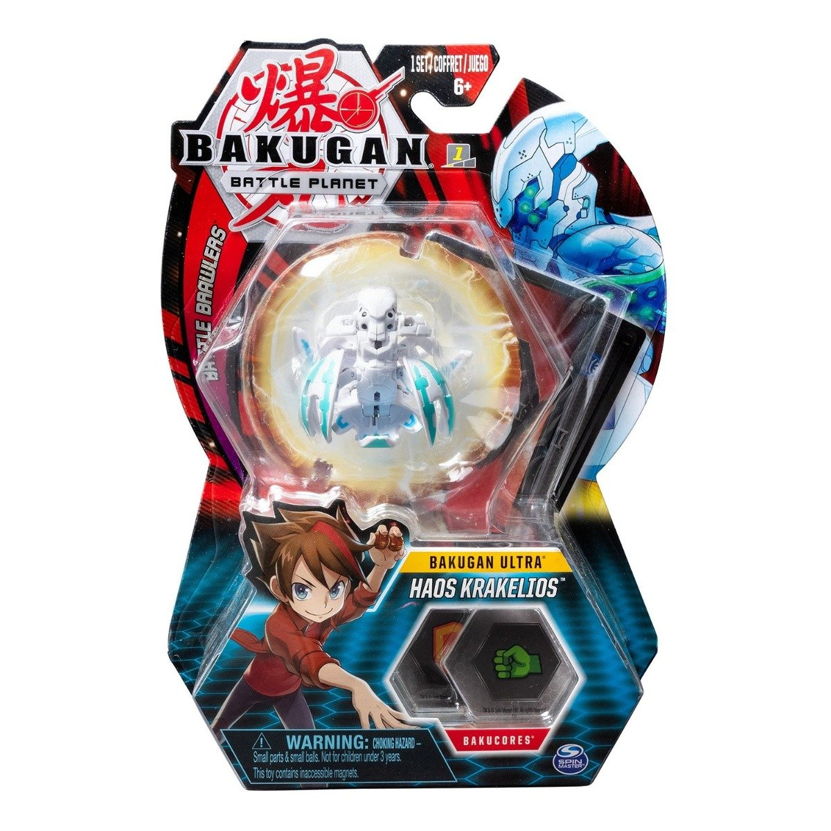 Figurina Bakugan Ultra Battle Planet, 12E Kraken White, 20107991