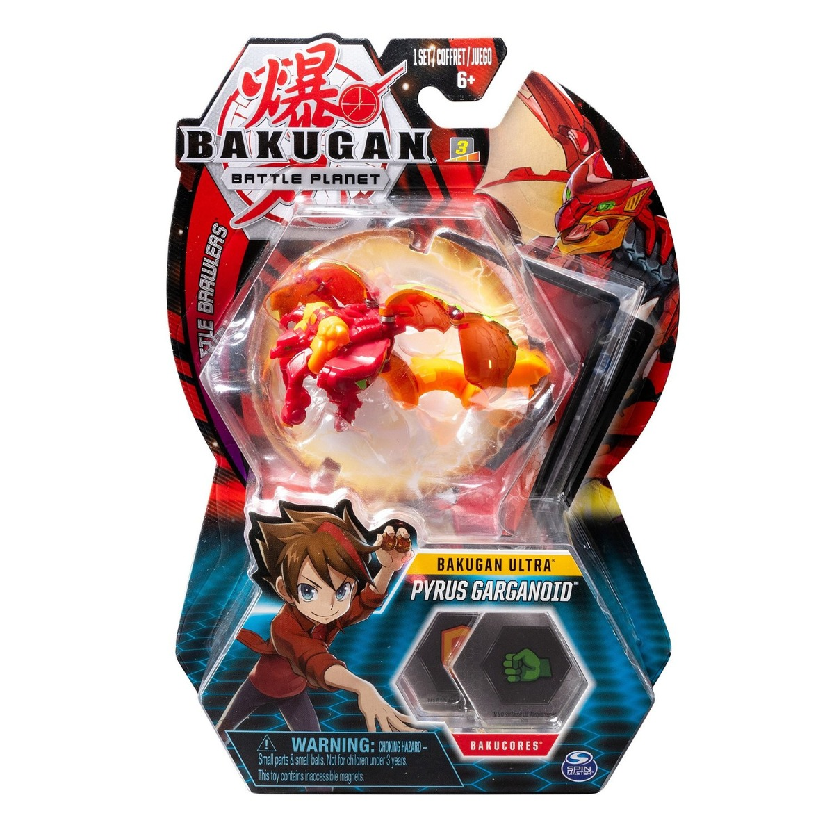 Figurina Bakugan Ultra Battle Planet, 7A Gargoyle Red, 20107992