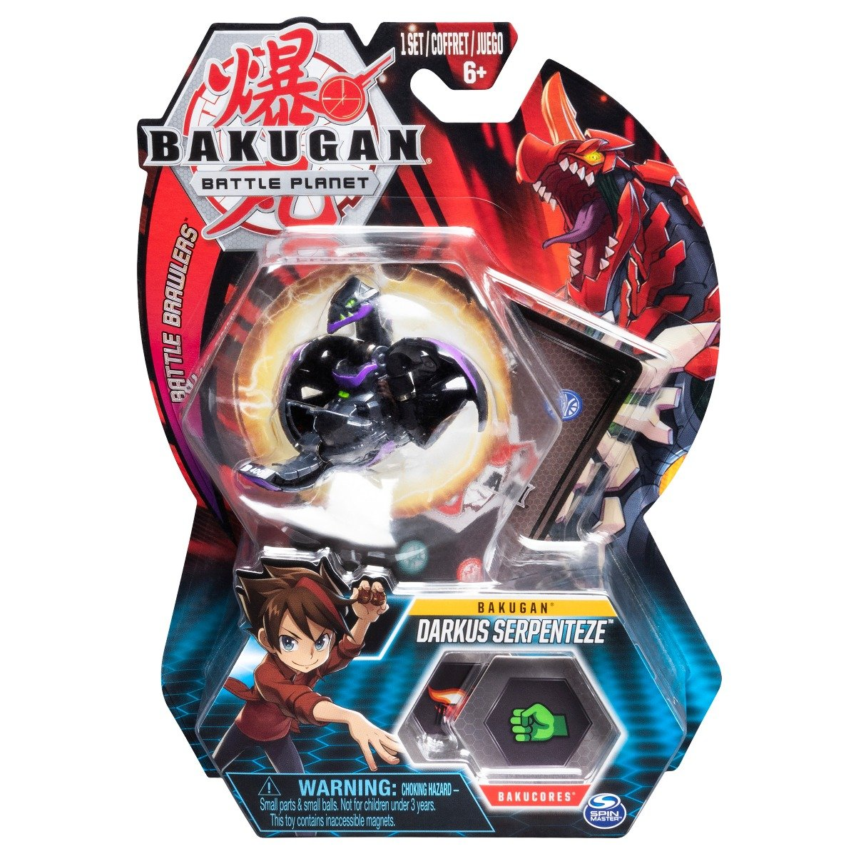 Figurina Bakugan Battle Planet, 8D Leviathan Black, 20107949
