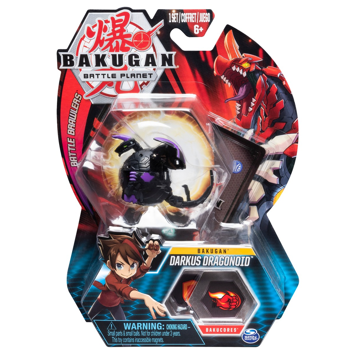 Figurina Bakugan Battle Planet, 1D Dragonoid Black, 20107951