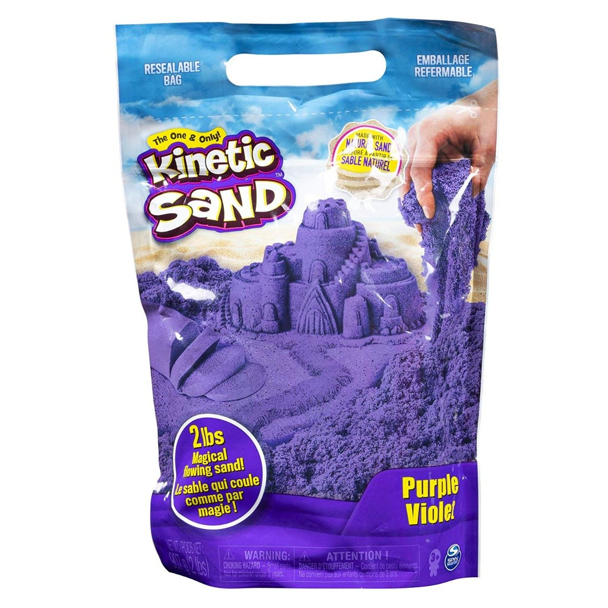 Rezerva nisip colorat Kinetic Sand, Mov, 900g