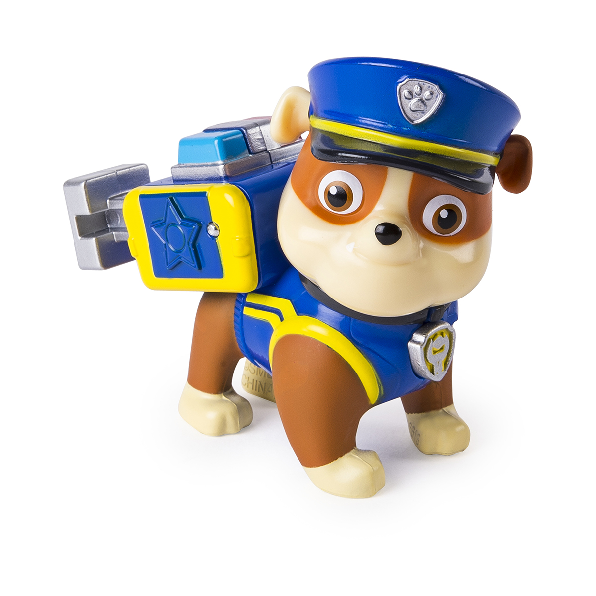 Figurina cu uniforma de politie Paw Patrol, Rubble (20107295)
