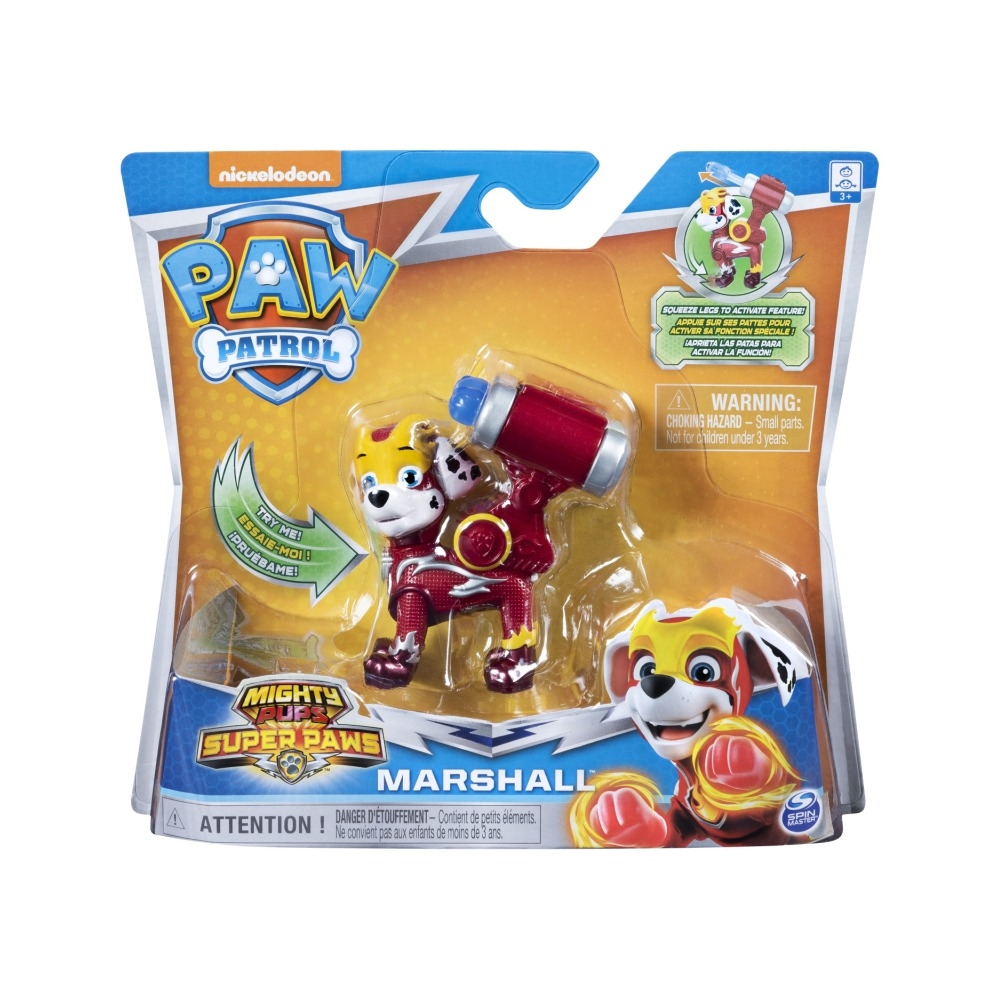Figurina Paw Patrol Mighty Pups Super Paws, Marshall 20114287