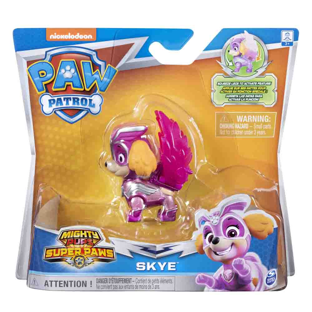 Figurina Paw Patrol Mighty Pups Super Paws, Skye 20114289