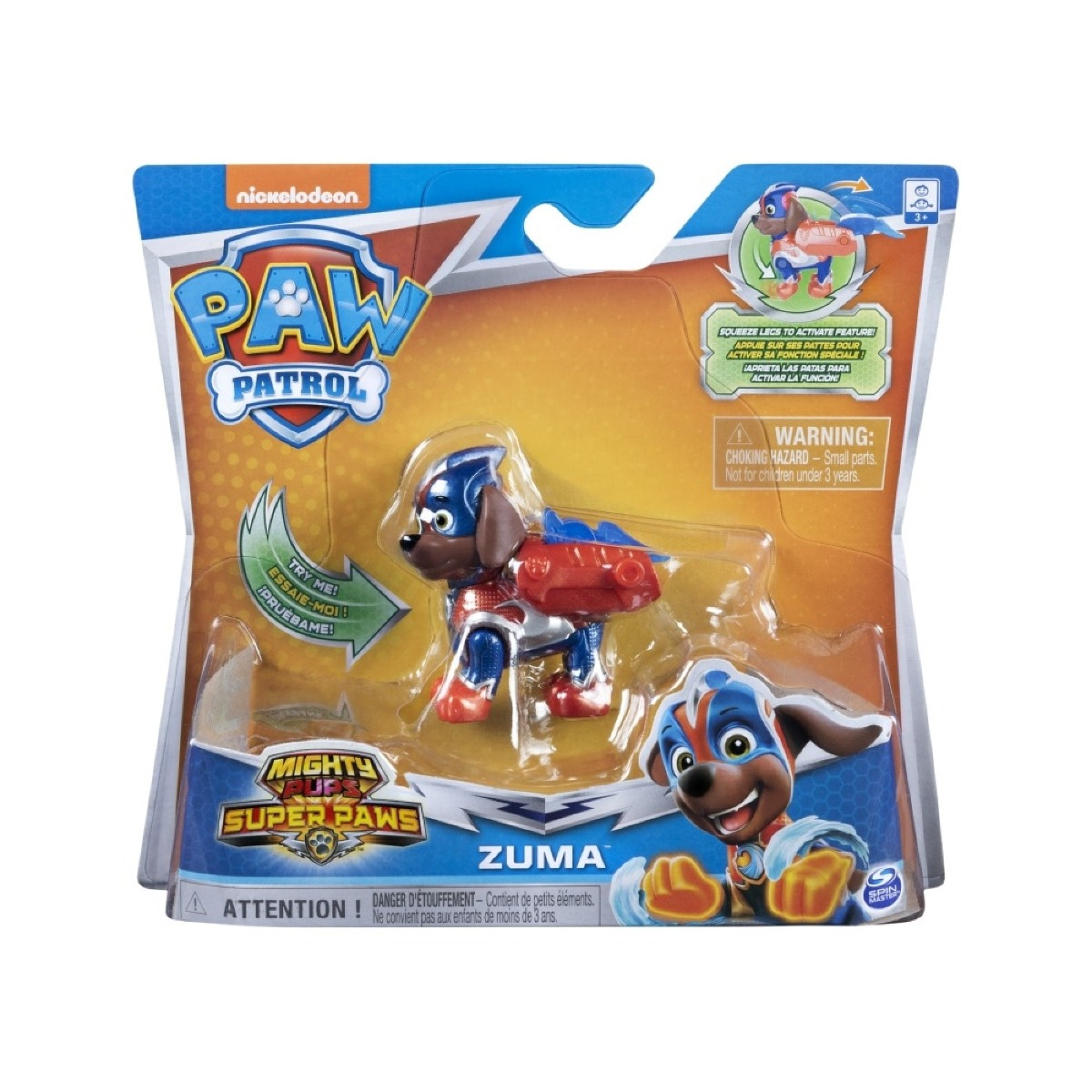 Figurina Paw Patrol Mighty Pups Super Paws, Zuma 20114290