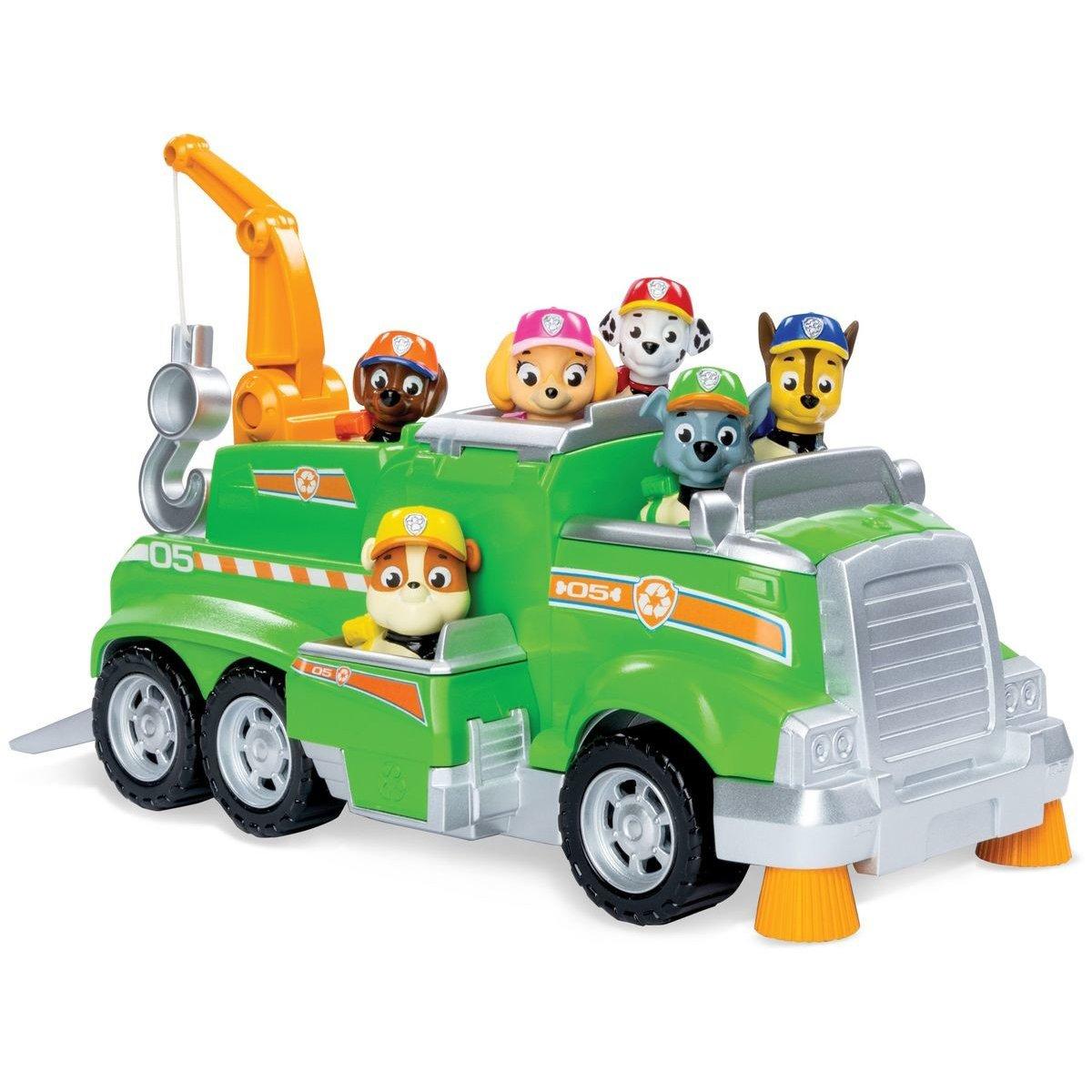 Set de joaca cu Masinuta pentru reciclare si 6 catelusi Paw Patrol
