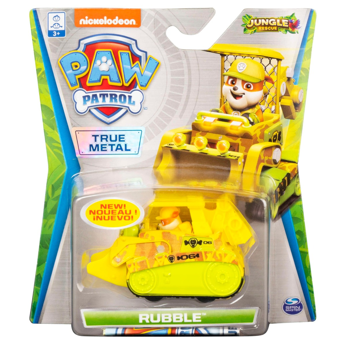 Masinuta cu figurina Paw Patrol True Metal, Rubble 20121338