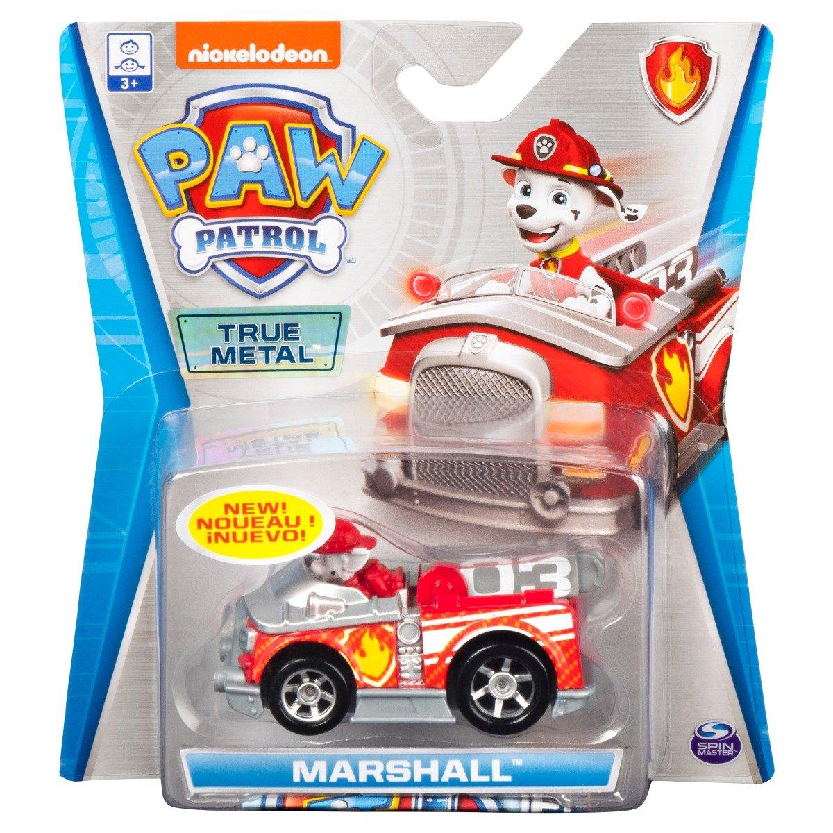 Masinuta cu figurina Paw Patrol True Metal, Marshall 20121346