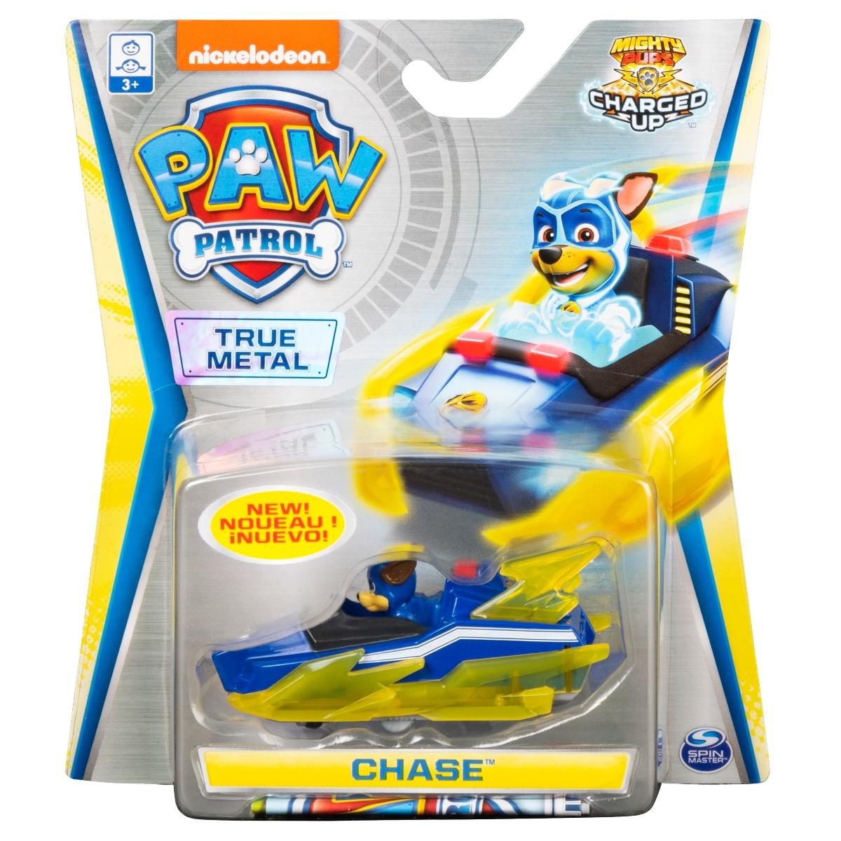 Masinuta cu figurina Paw Patrol True Metal, Chase 20121350