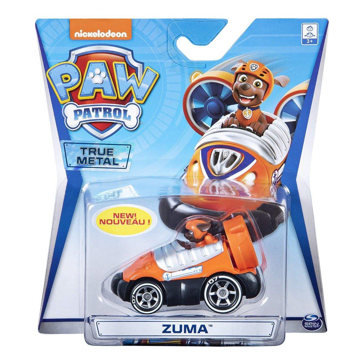 Masinuta cu figurina Paw Patrol True Metal, Zuma 20121384