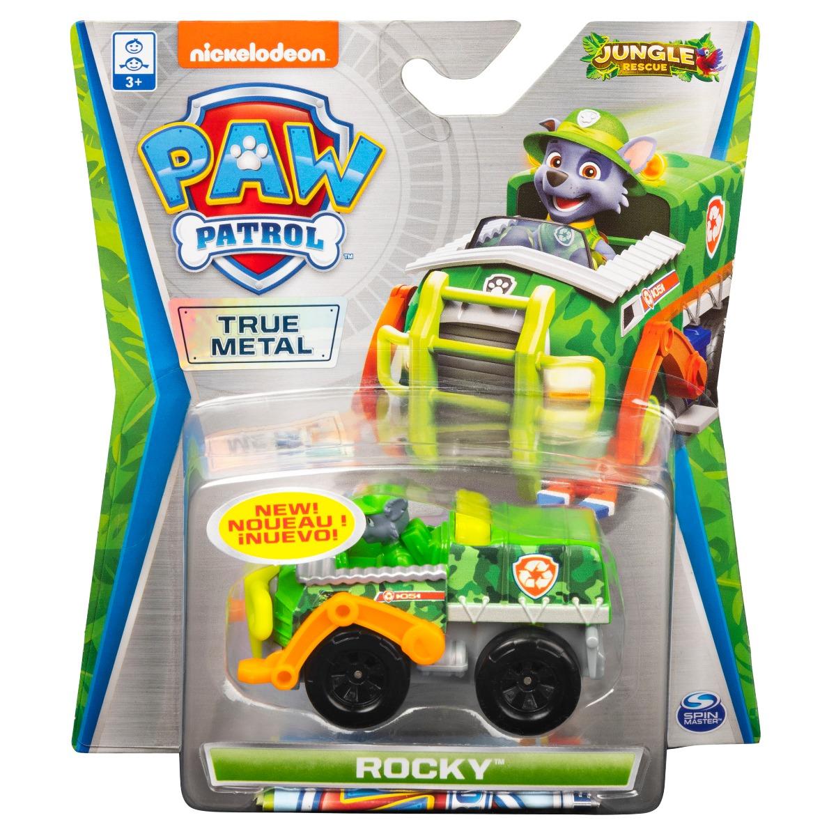 Masinuta cu figurina Paw Patrol True Metal, Rocky 20121385
