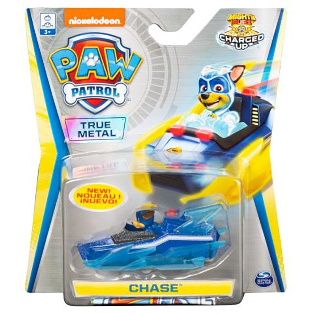 Masinuta cu figurina Paw Patrol True Metal, Chase 20121401