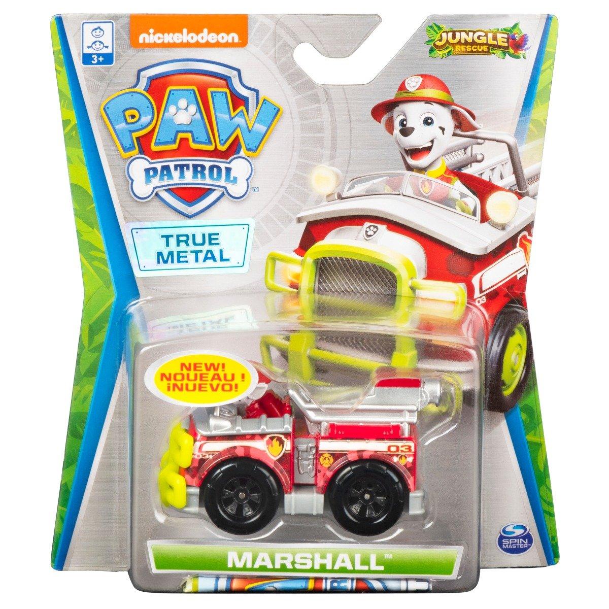 Masinuta cu figurina Paw Patrol True Metal, Marshall 20121337